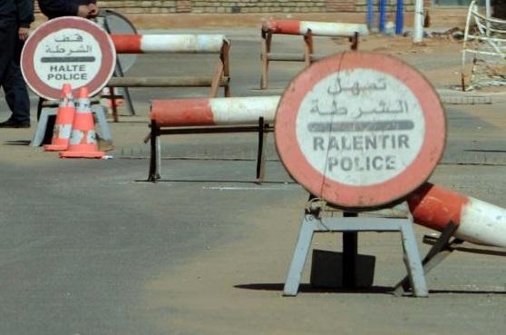 Barrage de police. D. R.