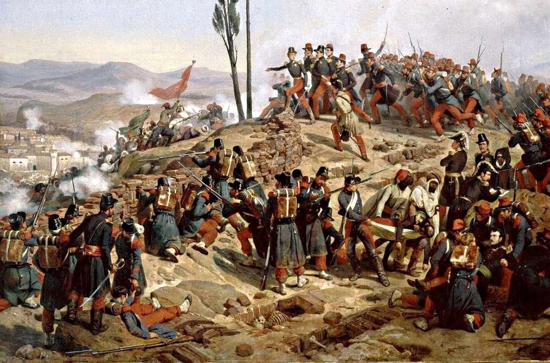 L'armée française a dû affronter une résistance algérienne farouche. D. R.