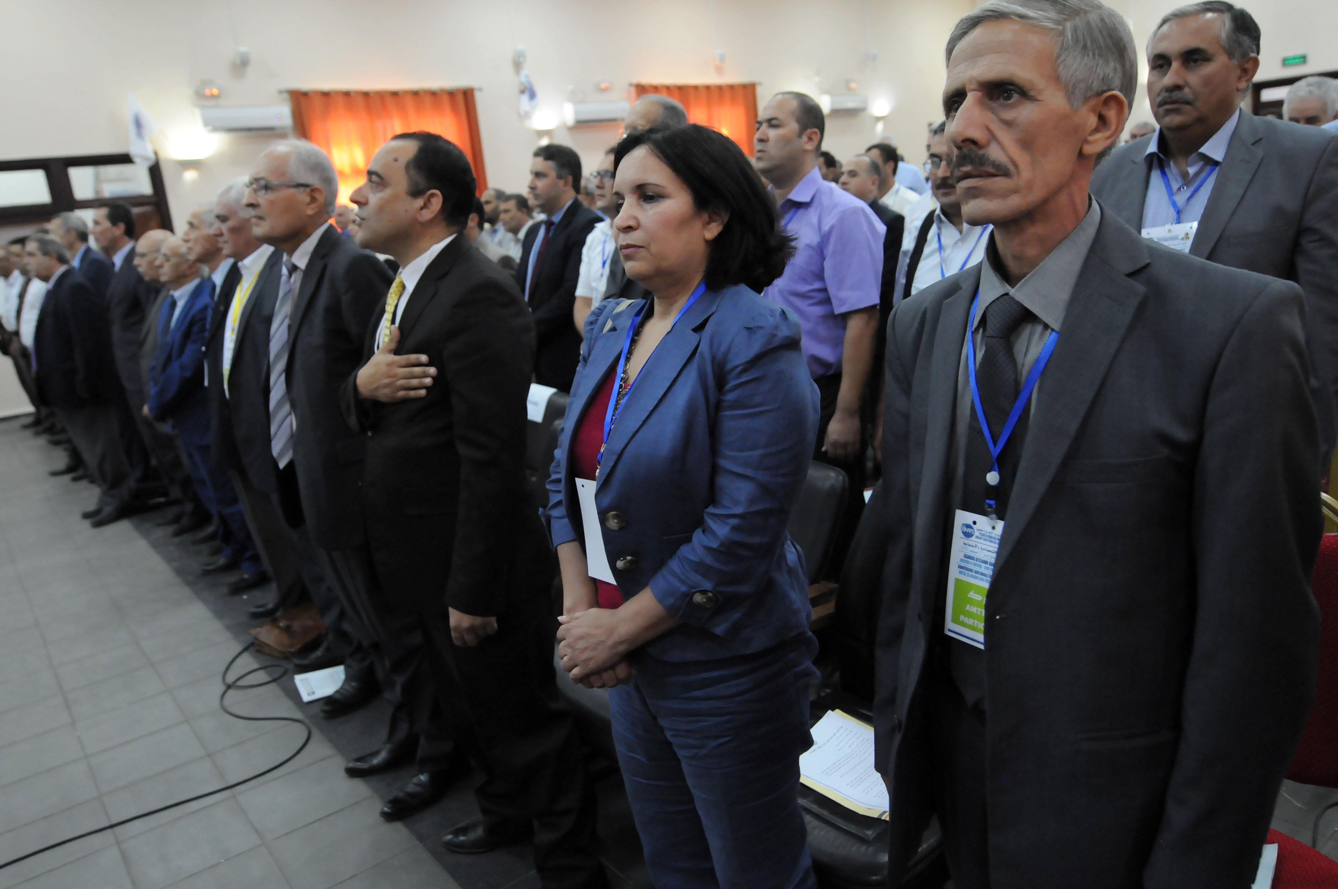 Plusieurs membres de la direction du FFS se sont déplacés aujourd'hui à Lakhdaria. New Press