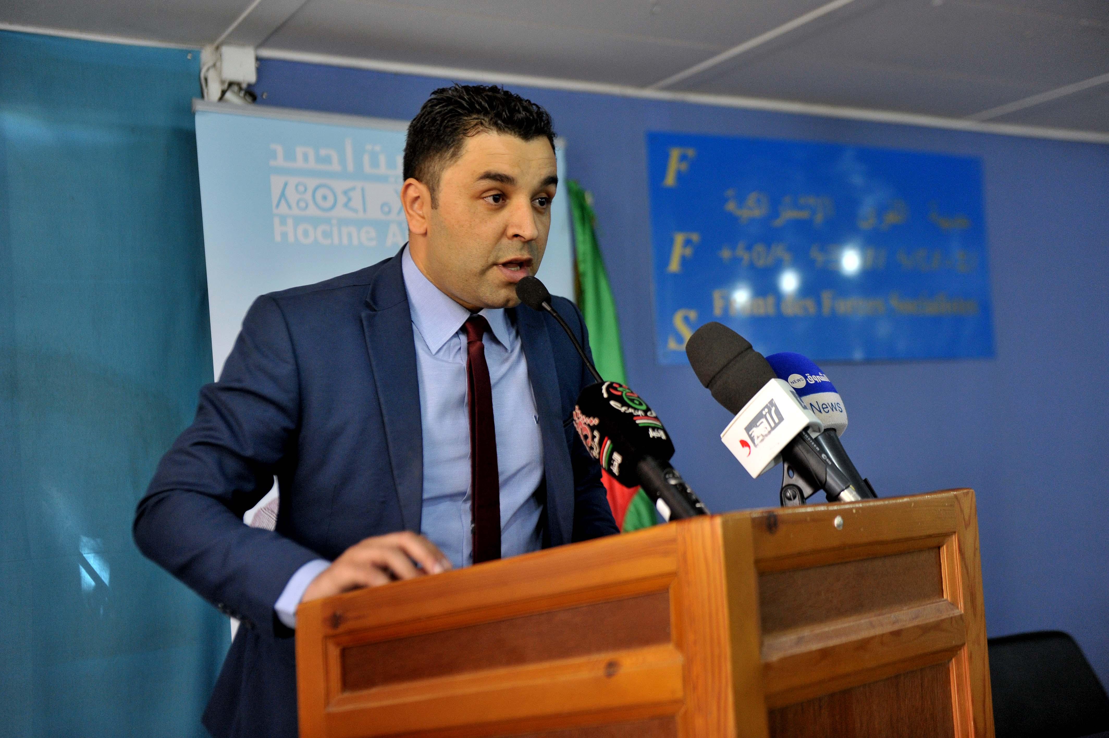 Youcef Aouchiche, secrétaire national à la communication du FFS. New Press