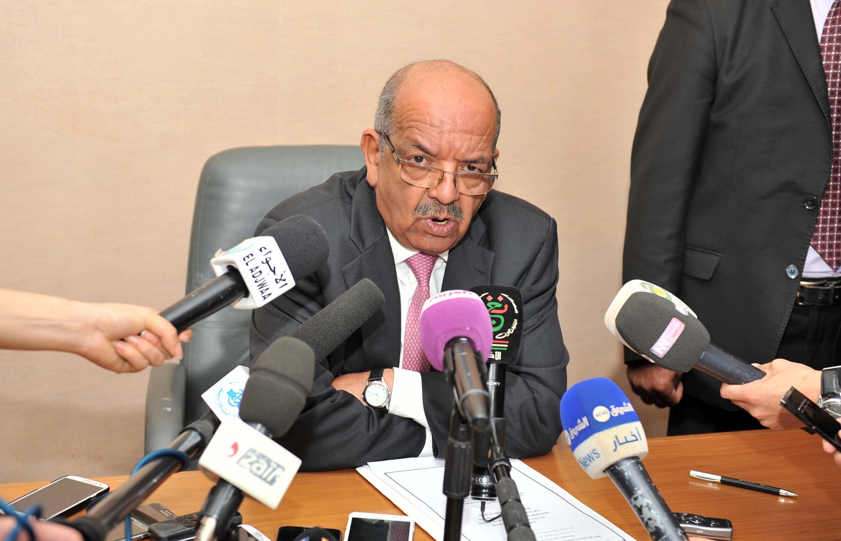 Abdelkader Messahel. New Press