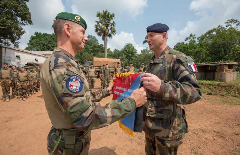 Le colonel J.-B. Despouys (à gauche). D. R.
