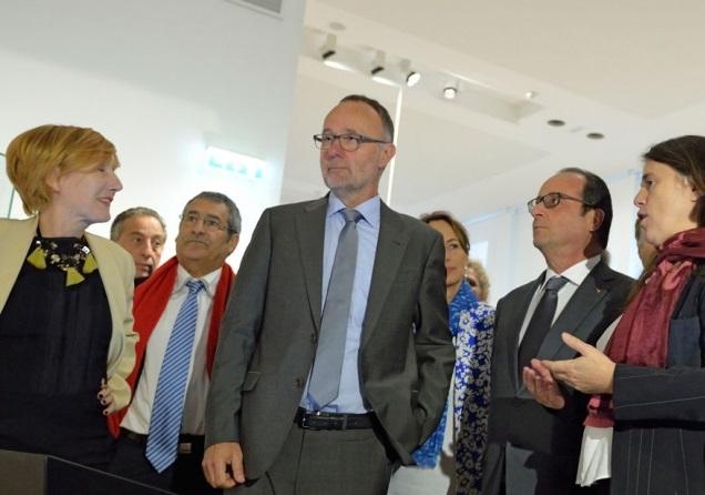 Bruno David avec François Hollande. D. R.