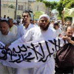 Rassemblement des islamistes en soutien aux Frères musulmans d'Egypte. New Press