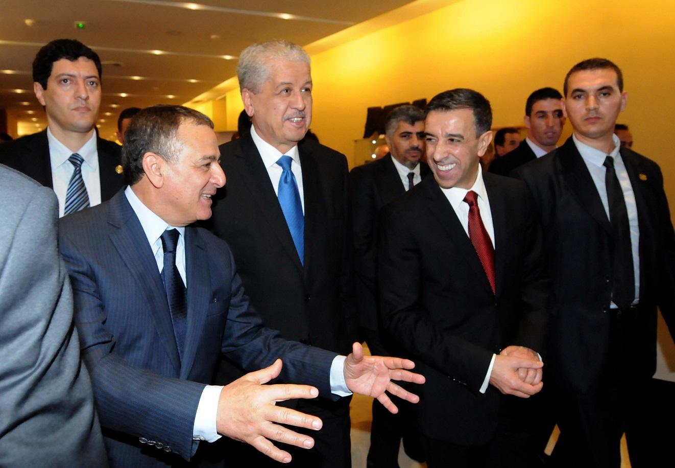 Abdelmalek Sellal, Abdesselam Bouchouareb et Ali Haddad. New Press