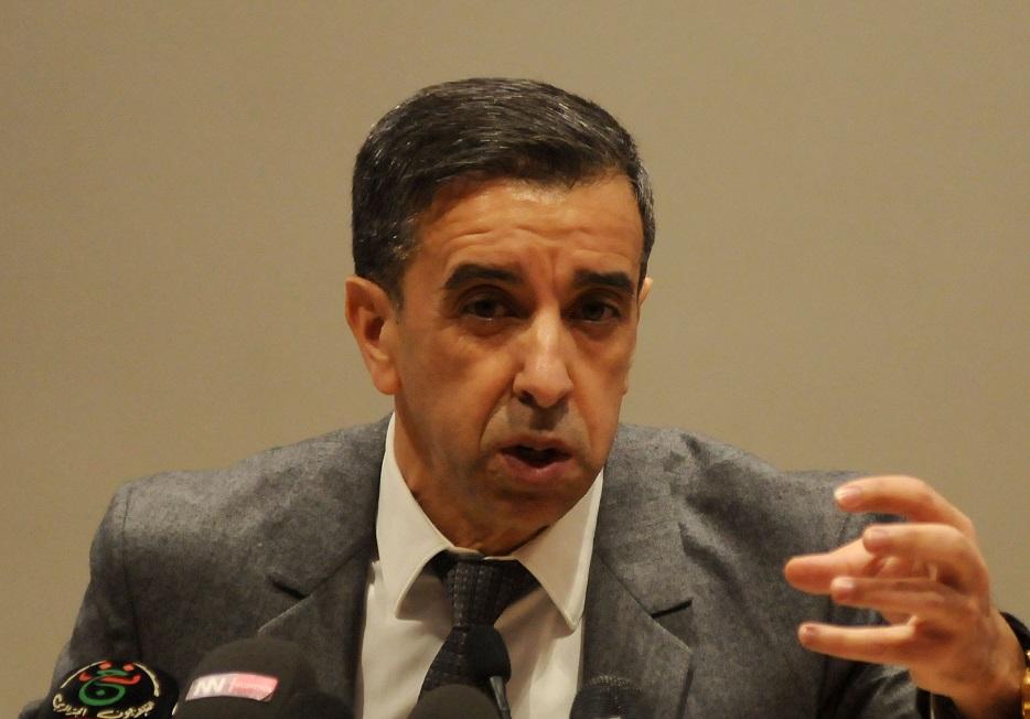 Ali Haddad lors de sa conférence de presse, animée ce lundi à Alger. New Press