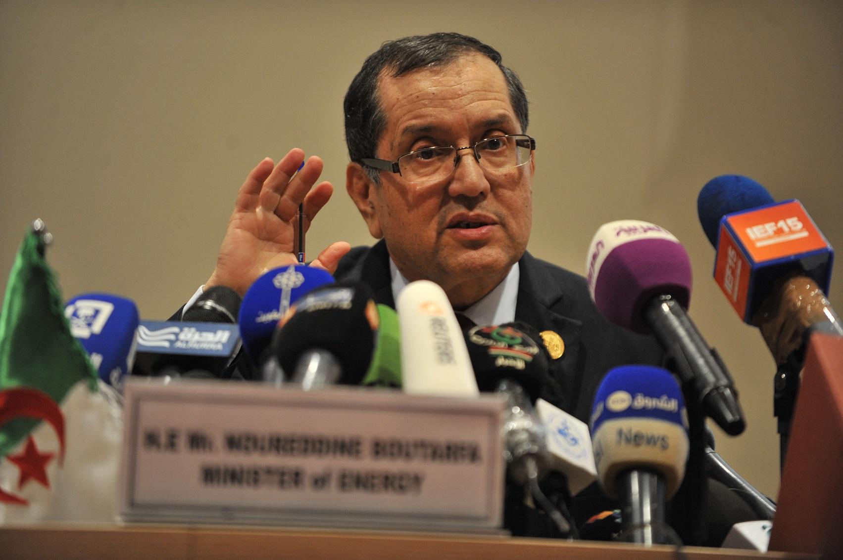 Noureddine Bouterfa, ministre de l'Energie et des Mines. D. R.