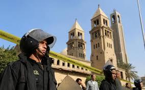 L'explosion s'est produite à l'intérieur de la cathédrale copte orthodoxe de Saint-Marc. D. R.