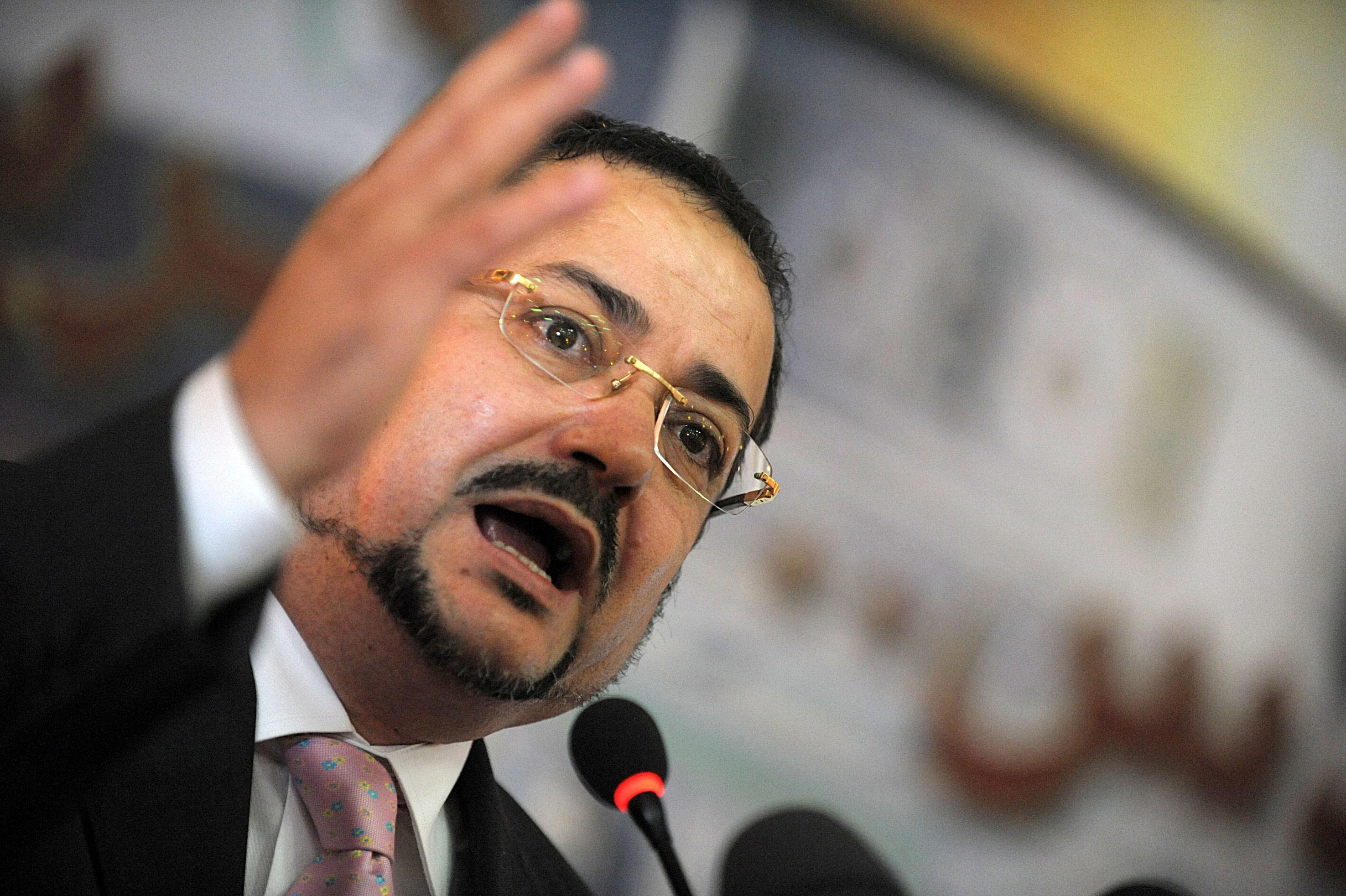 Abdelmadjid Menasra, président du Front du changement. New Press