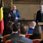 Abdelmalek Sellal s'entretient avec son homologue belge, Charles Michel. New Press