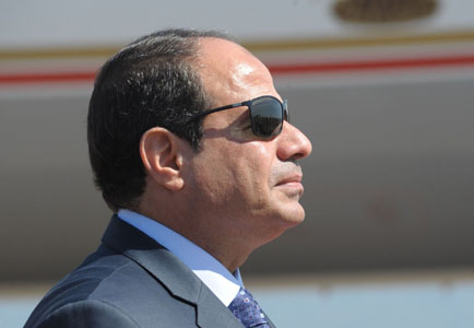 Le président égyptien, Abdelfattah Al-Sissi. New Press