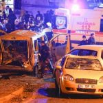La cible de l'attaque était un bus des forces de l'ordre. D. R.