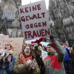 Manifestation contre les violences subies par les femmes à Cologne, en Allemagne. D. R.