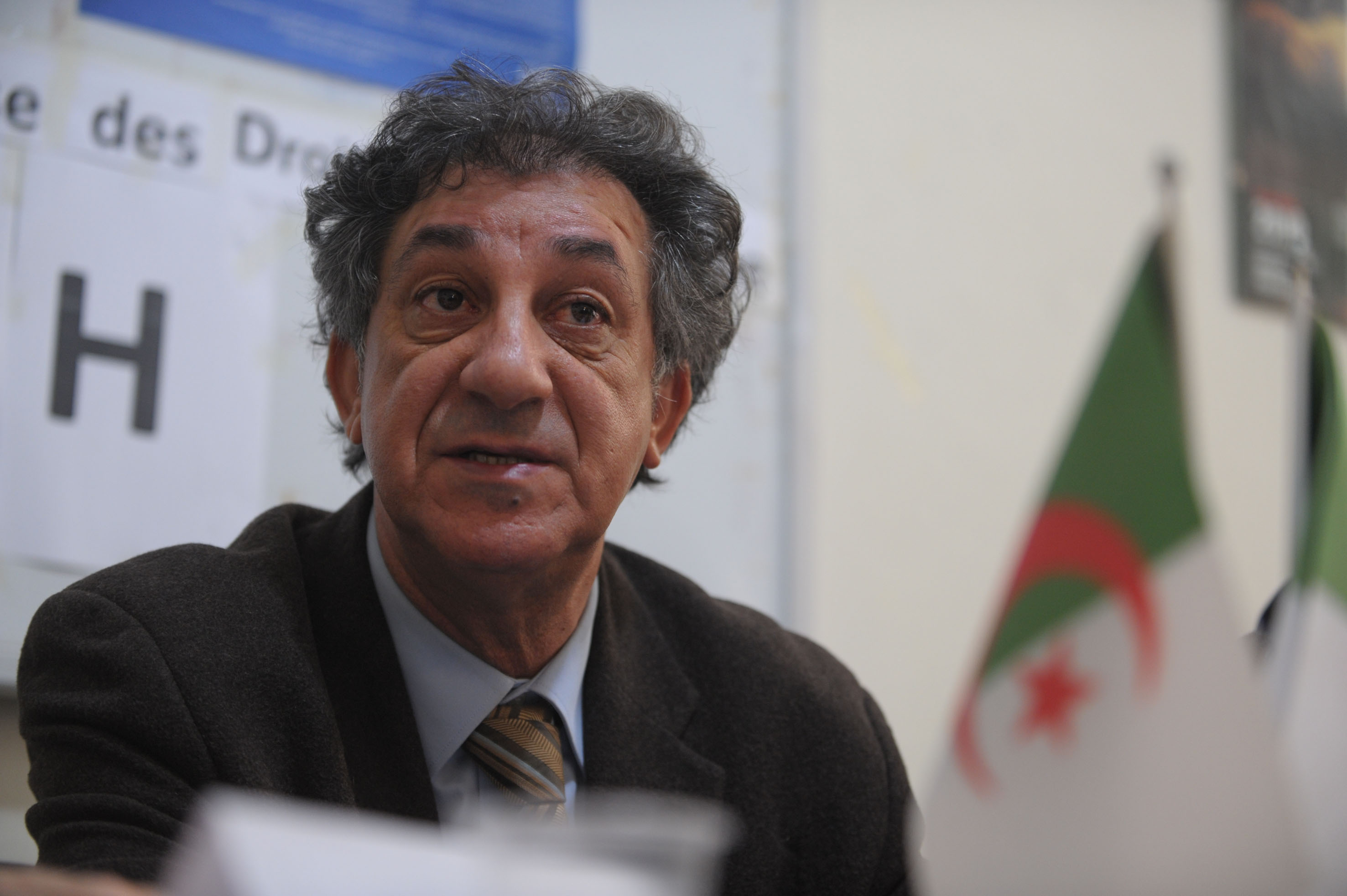 Noureddine Benissad, président de la LADDH. New Press