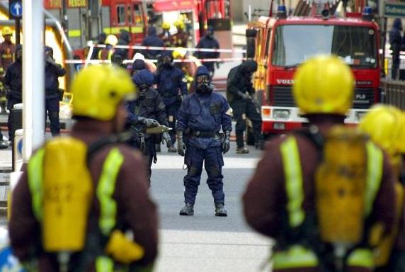Exercice de sécurité à Londres. D. R.