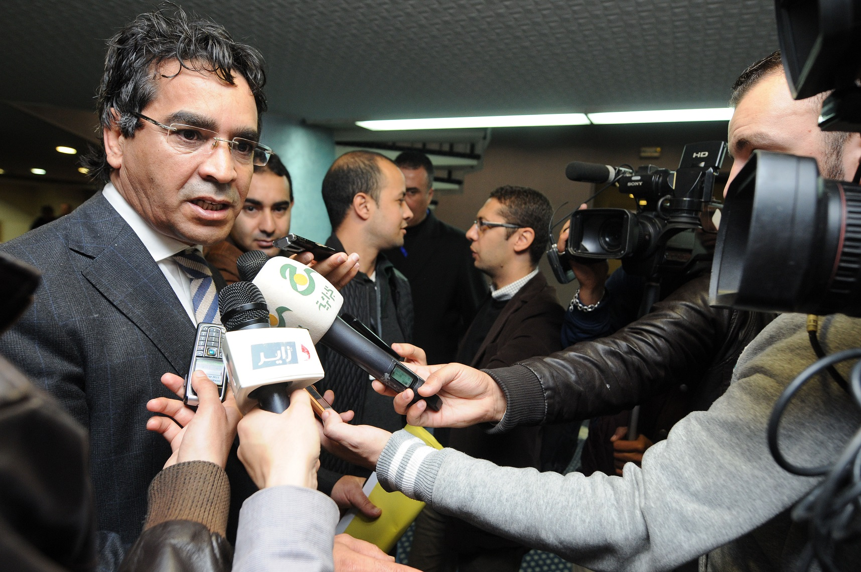 L'argent sale : une des plaies de l'Algérie. Ici, le chef du groupe parlementaire du FLN. New Press