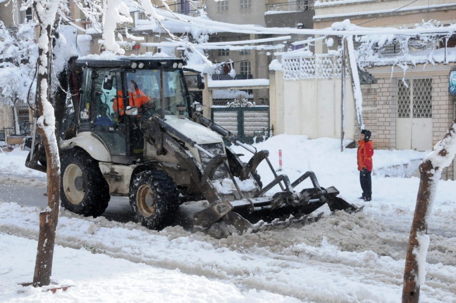 axes routiers, neige