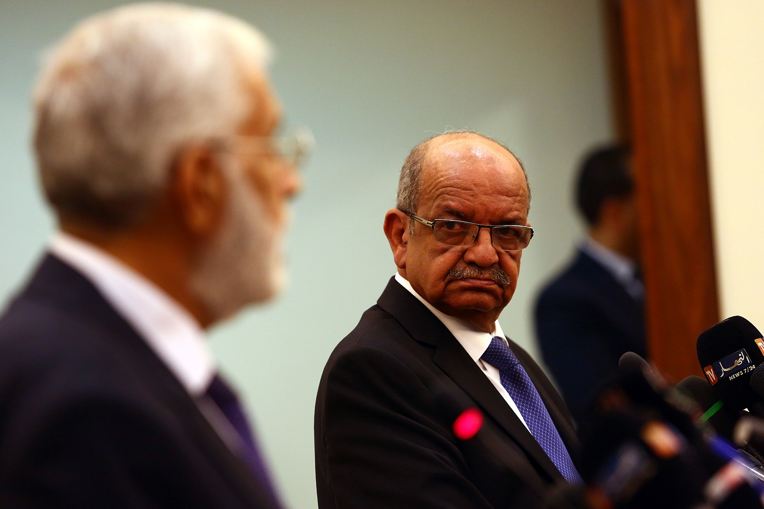 Messahel avec le MAE libyen. Photo d'archive/New Press