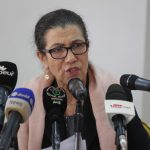 Louisa Hanoune, lors de sa conférence de presse animée ce samedi à Zéralda. New Press