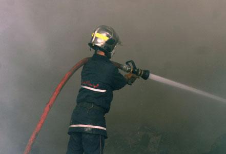 Les éléments de la Protection civile ont maîtrisé le feu sans grande difficulté. New Press