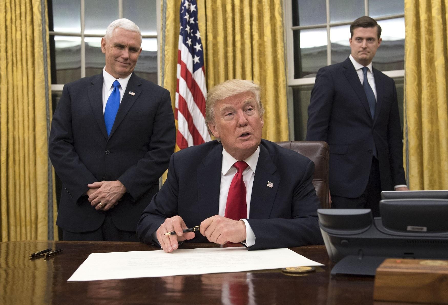 Donald Trump veut prouver que ses promesses n'étaient pas des paroles en l'air. D. R.
