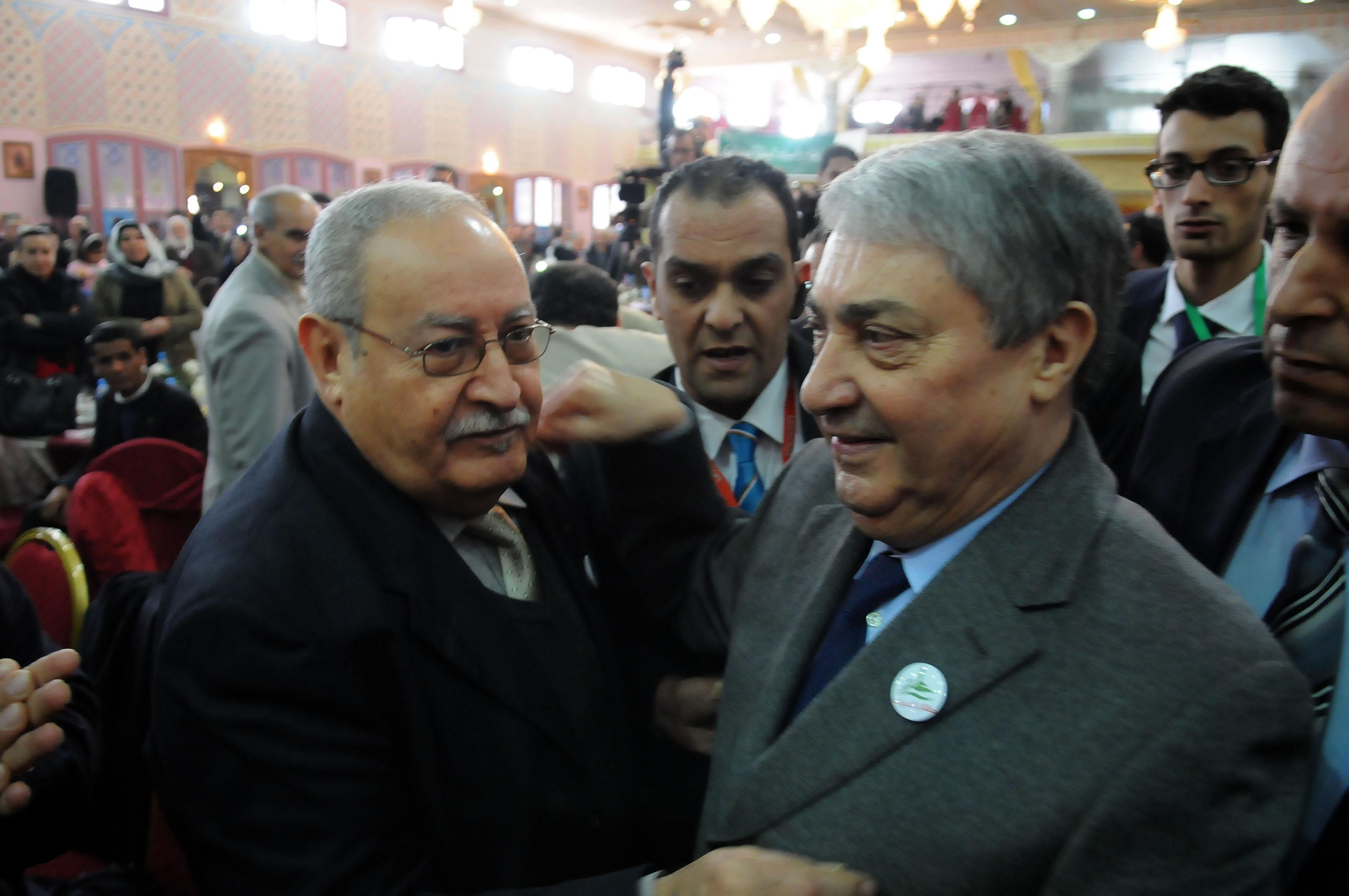 Ali Benflis, lors d'un meeting. New Press