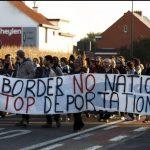 Manifestation devant le centre fermé de Steenokkerzeel, en Belgique. D. R.