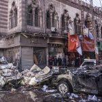 Attentat terroriste contre la sûreté de Mansoura en Egypte. D. R.