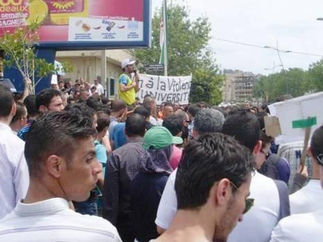 Manifestation des étudiants de Béjaïa en octobre 2013. D. R.