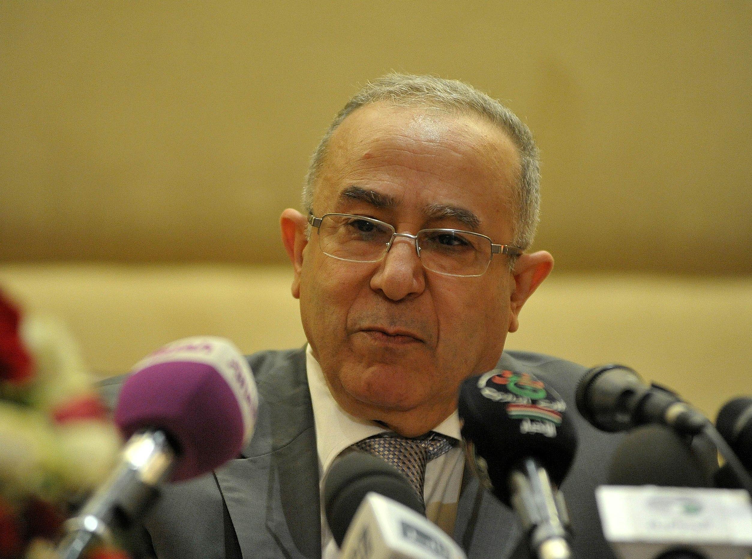 Ramtane Lamamra, ministre des Affaires étrangères. New Press