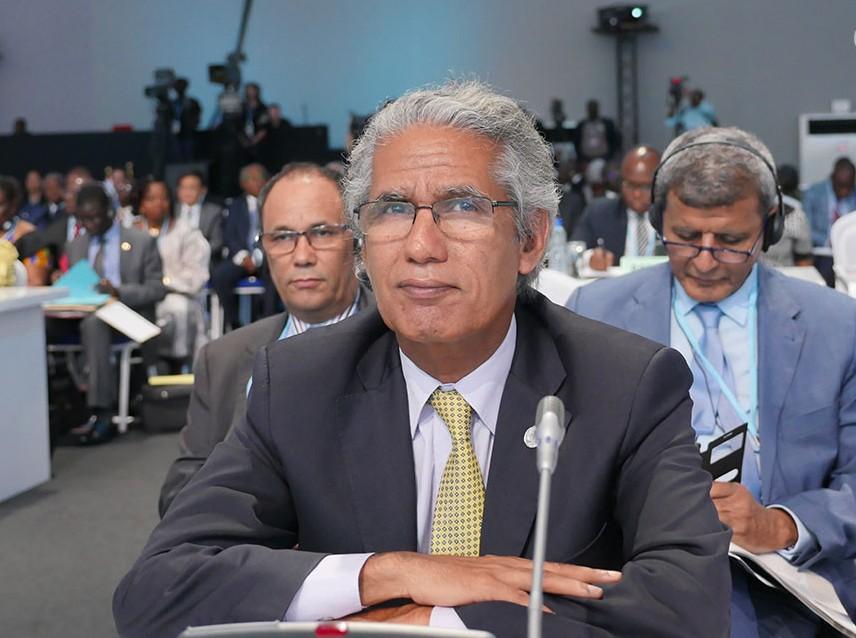 Mohamed Salem Ould Salek, ministre sahraoui des Affaires étrangères. D. R.