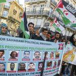 Manifestation à Paris pour la libération des prisonniers politiqueS sahraouis. D. R.