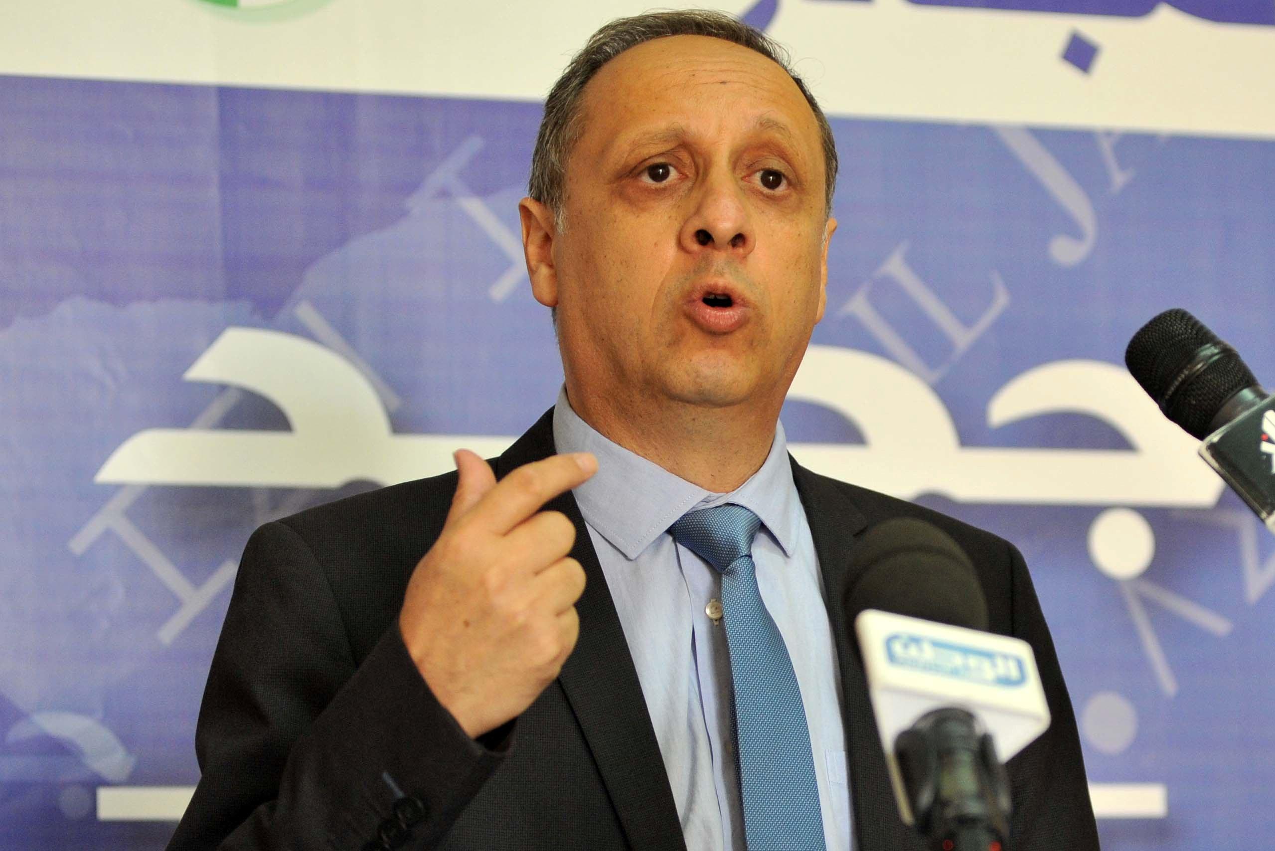 Sofiane Djilali, président de Jil Jadid. New Press