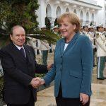 Angela Merkel avec le président Bouteflika lors de sa dernière visite à Alger en 2008. New Press