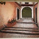 Une des toiles de Khaled Karim exposées à Paris. D. R.
