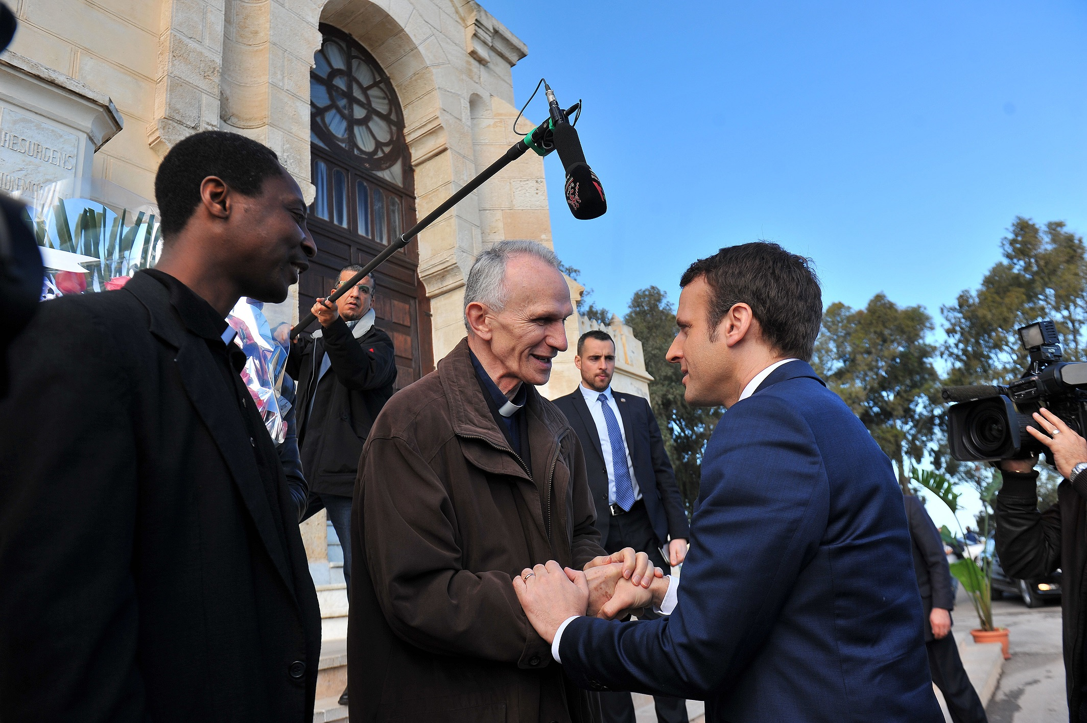 Emmanuel Macron à Alger. New Press