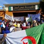 Sit-in devant la wilaya de Tamanrasset. D. R.