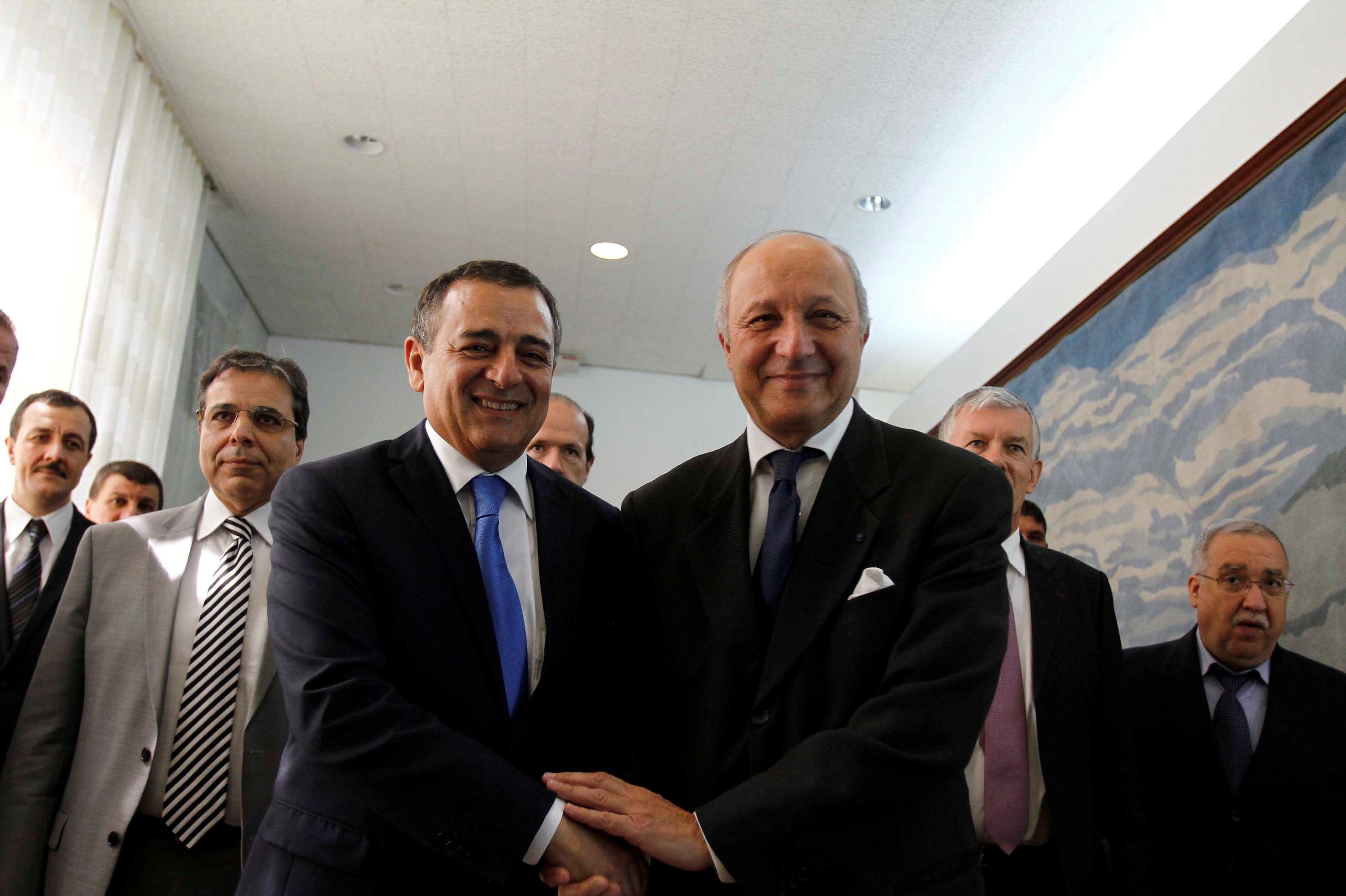 Laurent Fabius lors d'une précédente visite en Algérie. New Press