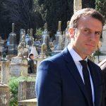 Emmanuel Macron, lors de sa visite en Algérie. New Press