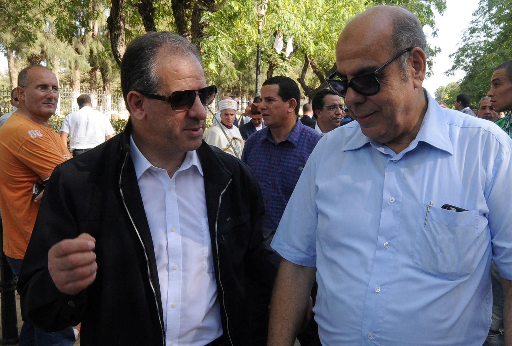El-Hadi Ould Ali avec Mohamed Raouraoua. New Press