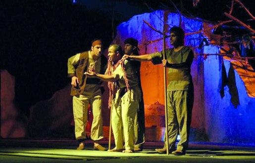 Scène de la pièce L'aube Ismaël. D. R.