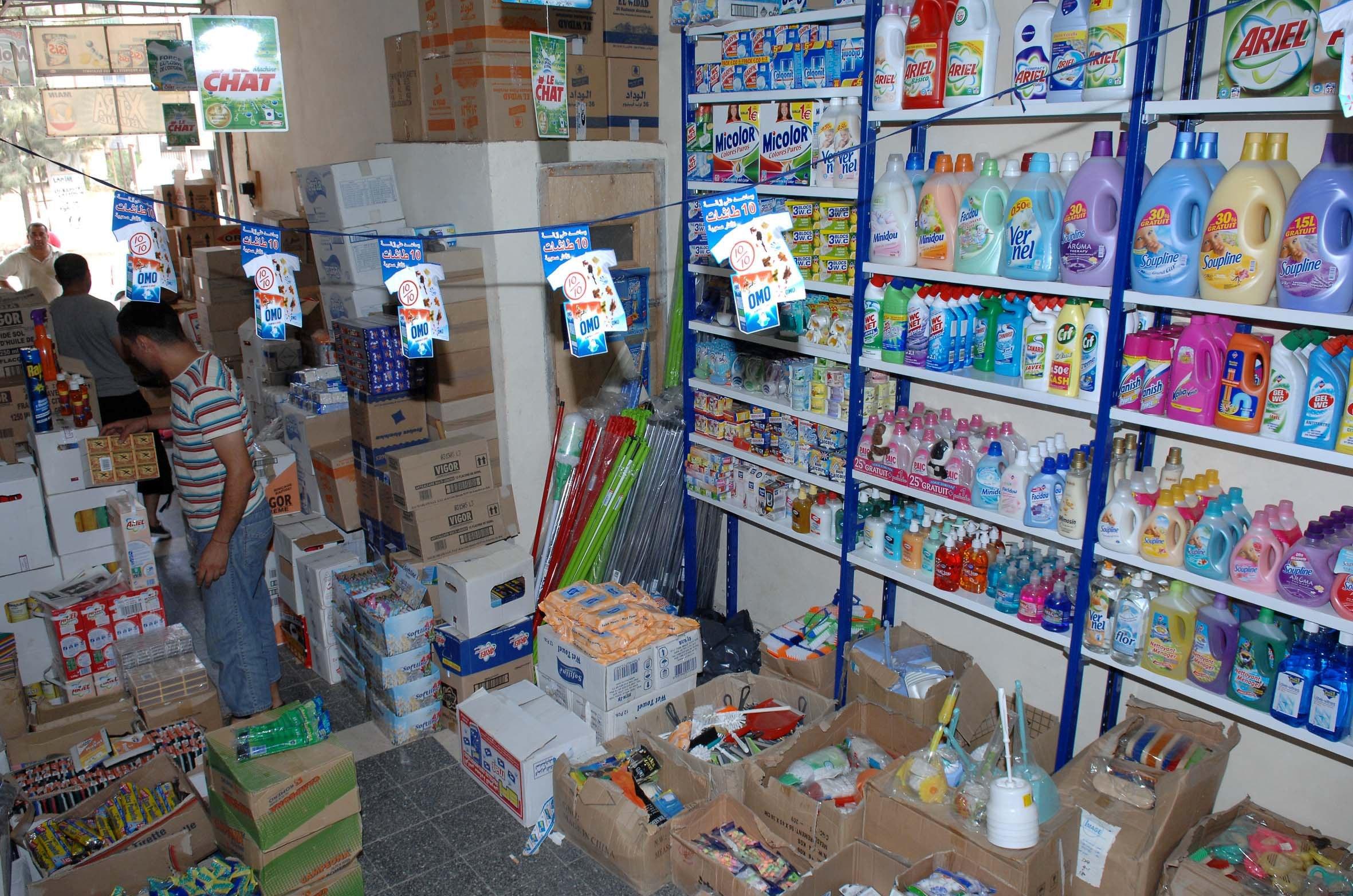 Beaucoup de produits fabriqués localement sont contrefaits. New Press