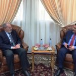 Entretien entre l'ambassadeur irakien et Bouabdallah Ghlamallah. D. R.