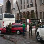 Le terroriste a déclenché sa charge explosive au palais de justice de Damas. D. R.