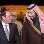 Abdel Fattah Al-Sissi recevant le prince héritier saoudien. D. R.