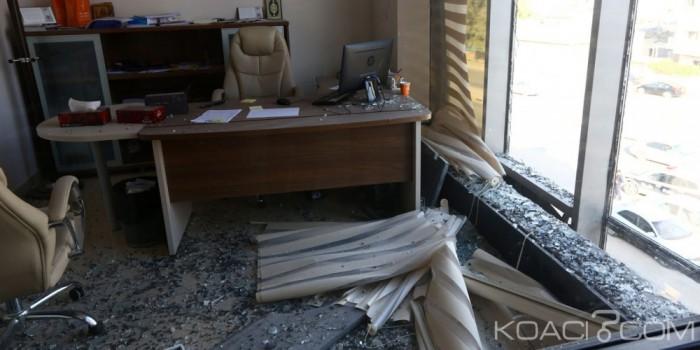 Le siège de la télévision privée Al-Nabaa attaqué par des inconnus. D. R.