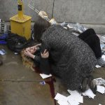 Une victime de l'attaque de Londres. D. R.