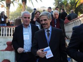 Rachid Chabati (à gauche) et le premier secrétaire du FFS, Abdelmalek Bouchafa. New Press