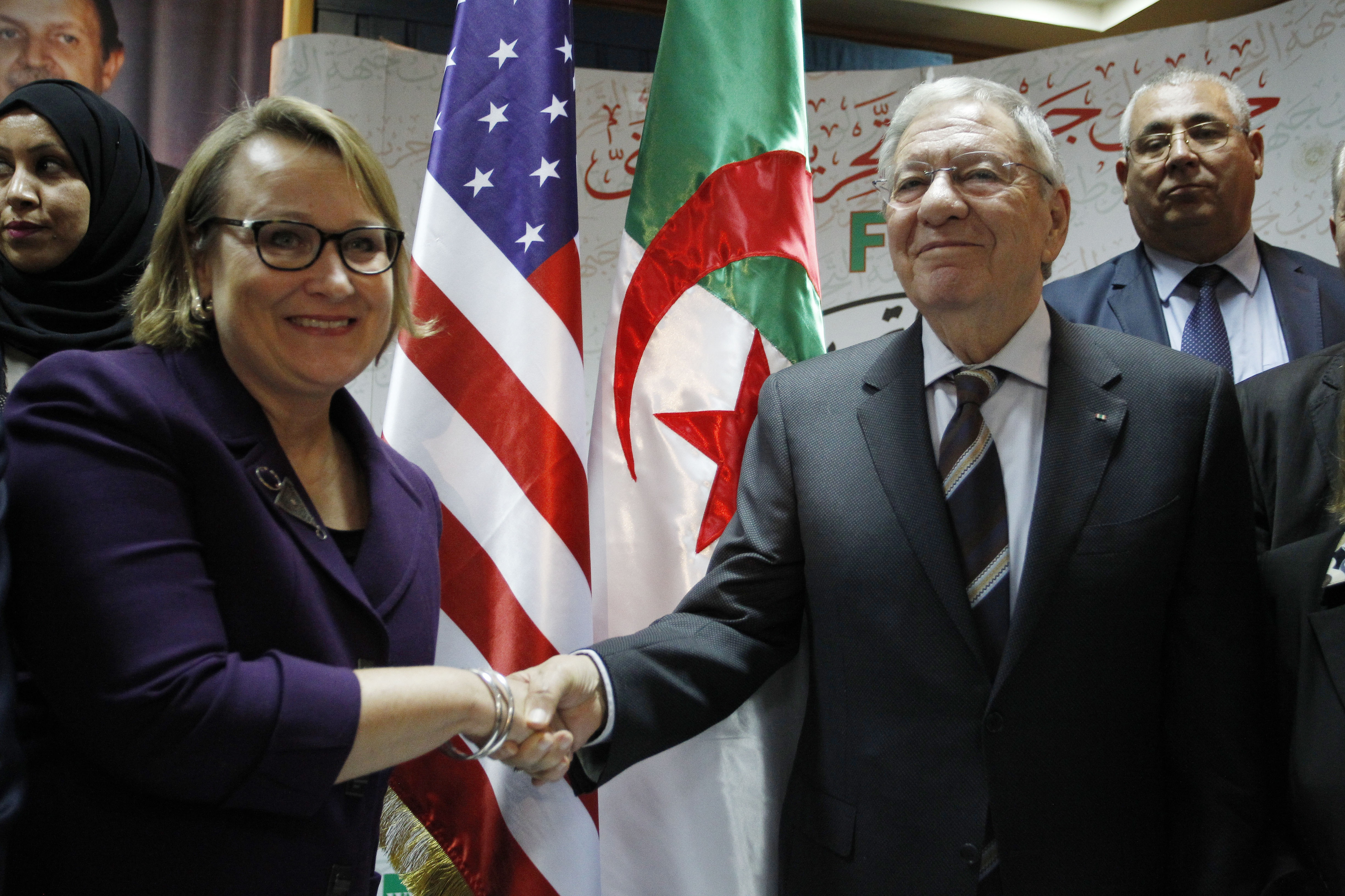 L'ambassadrice des Etats-Unis, Joan Polaschik, reçue par Djamel Ould-Abbès. New Press