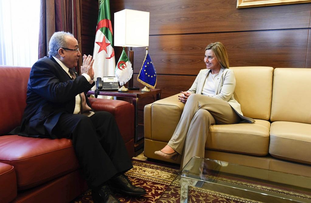 Federica Mogherini et Ramtane Lamamra. D. R.